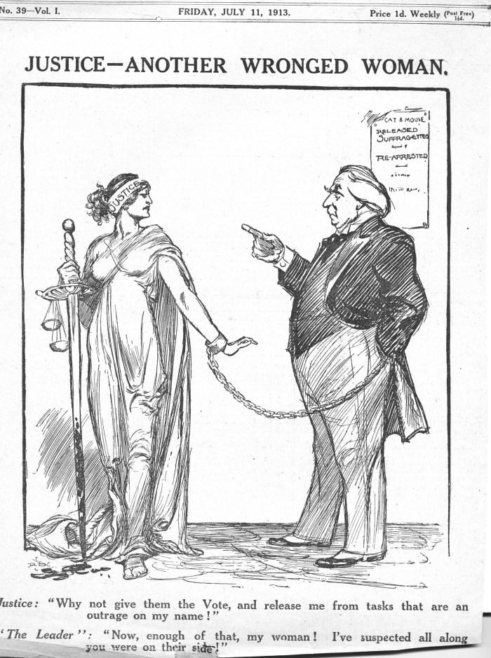 Ruby Dyson cartoon fo The Suffragette in 1913