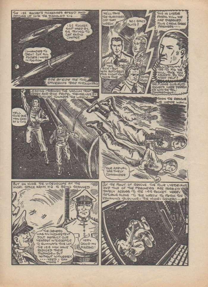 Space Commander Kerry #51 - Sample Art
