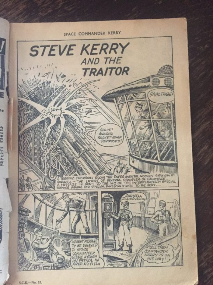 The opening page of Space Commander Kerry #55 - the title's final issue, which despite the numbering had run for just six issues!