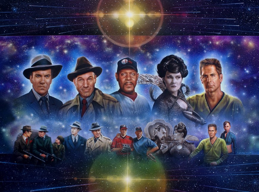 Star Trek - The Five Captains Trading Places  by Keith Birdsong