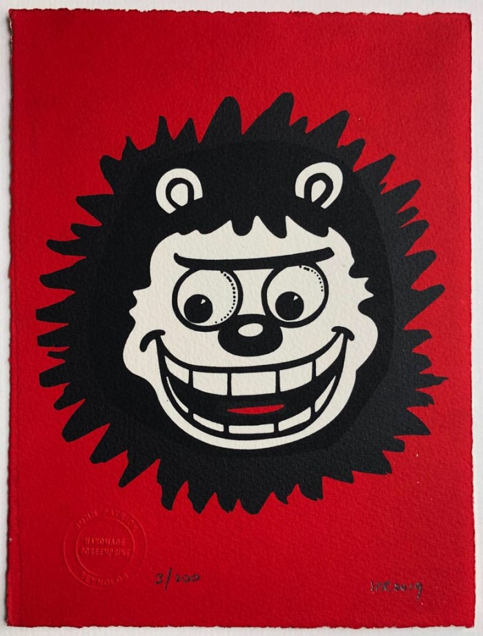 A recent addition to John Patrick Reynolds's Beano screenprint Lune - a new portrait of Gnasher