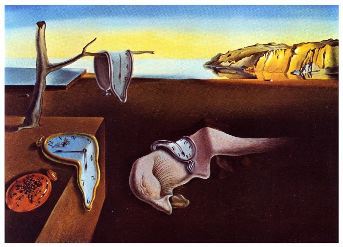 """""""La persistance de la mémoire"""" (The persistence of memory) by Salvador Dali (1931), held by the New York Museum of Modern Art"""
