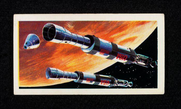 Race into Space Brooke Bond Card - Mars Mission