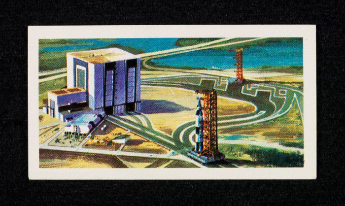 Race into Space Brooke Bond Card - Saturn V