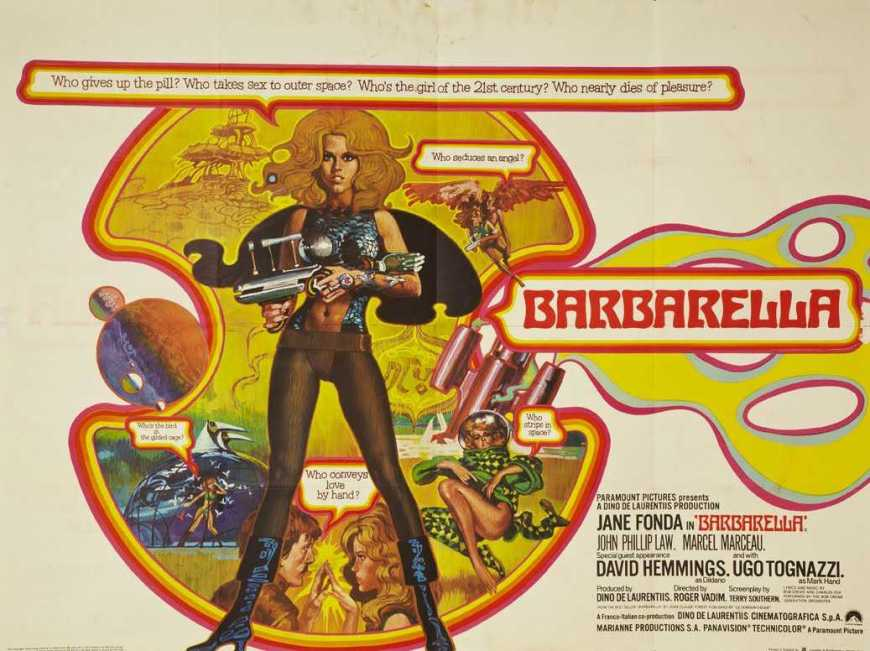 Barbarella film poster, 1968, United Kingdom Release