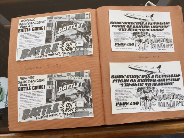Bromides of British Comics Retail Promotion for Battle and Buster. From the Peter Hansen Collection