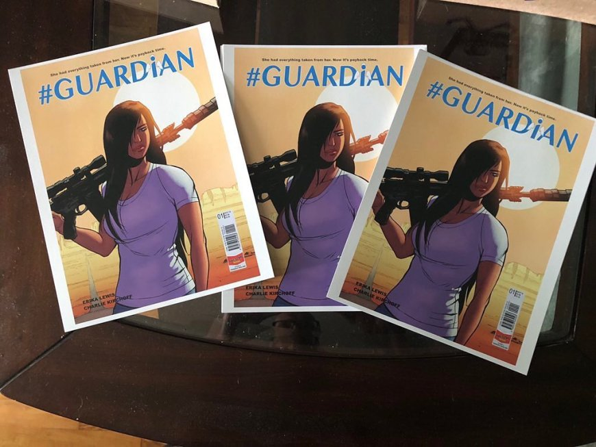 Erika Lewis revealed the cover of Guardian on Instagram recently
