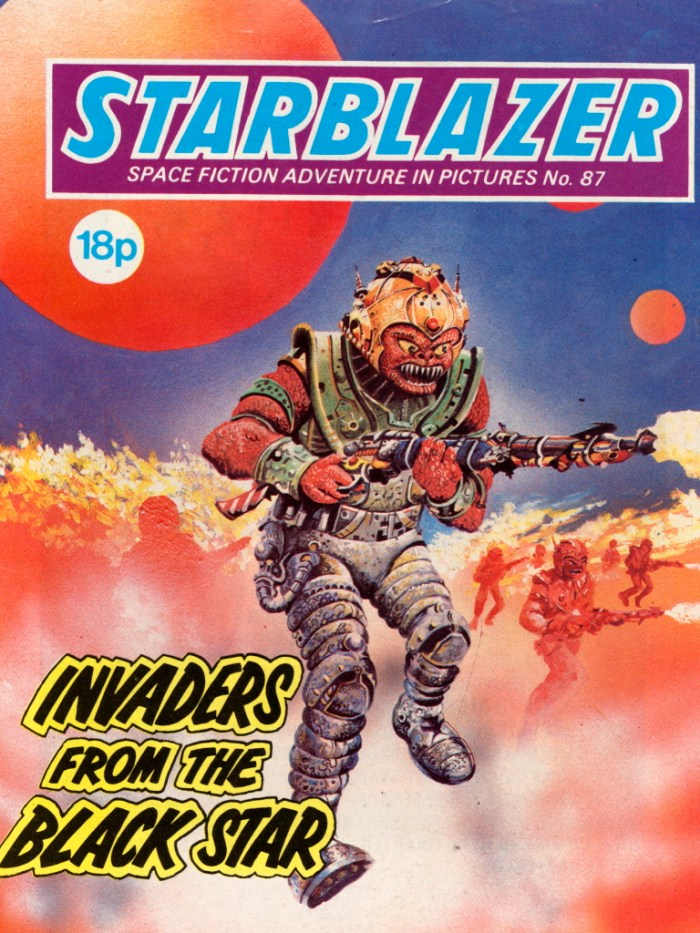 Starblazer 87: Invaders from the Black Star