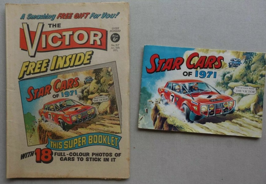 Victor Issue 517 - cover dated 16th January 1971, with Star Cars free gift