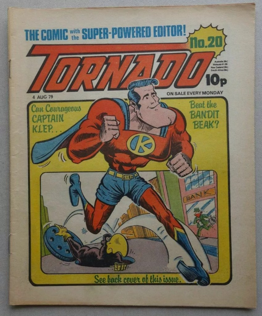 "Tornado Issue 20, with a ""Captain Klep"" cover by Kevin O'Neill"