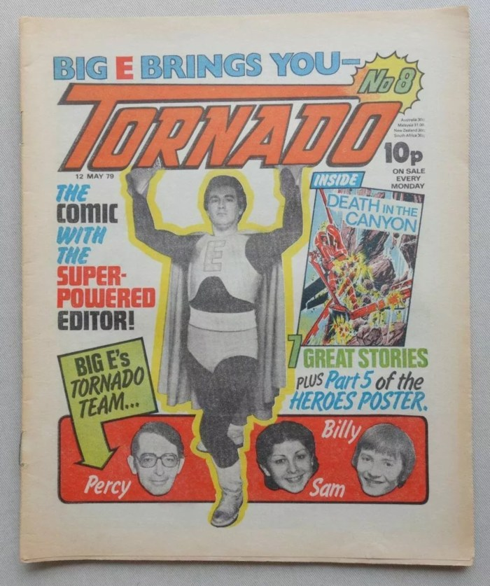 Tornado Issue 8 - and yes, that is artist Dave Gibbons on the cover, dressed as a superhero!
