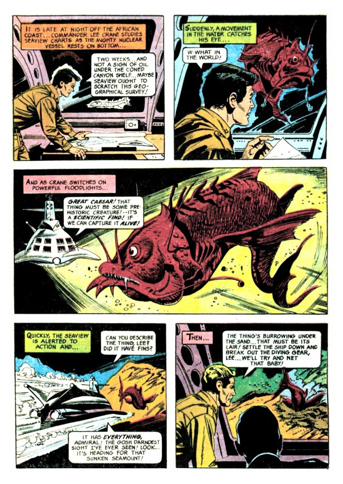 A page from Gold Key's Voyage to the Bottom of the Sea #5 - art by Alberto Giolitti