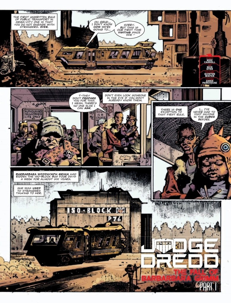 2000AD 2146: Judge Dredd - The Fall of Barbarbara Grimm (Part 1)