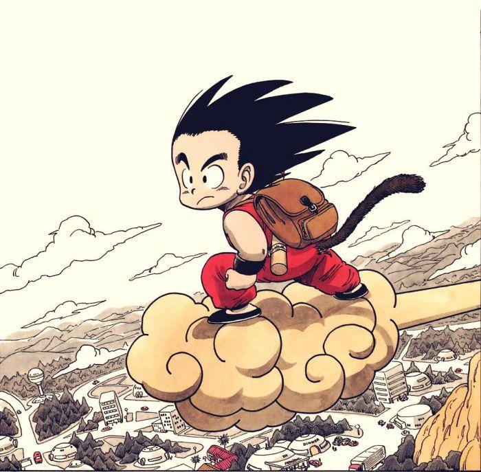 An example of Akira Toriyama's Dragonball art, found online