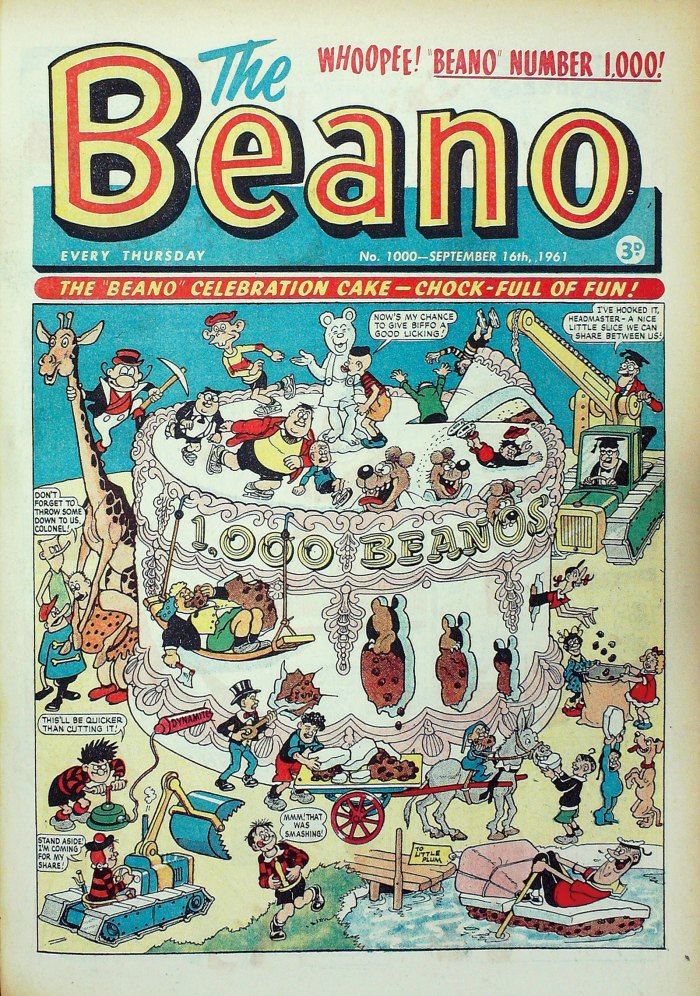 Beano No. 1000, cover dated 16th September 1961
