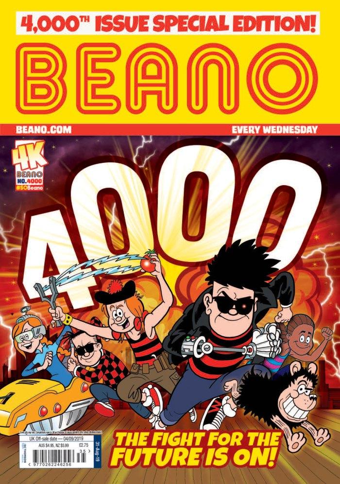 Beano 4000 - Cover Dated 4th September 2019