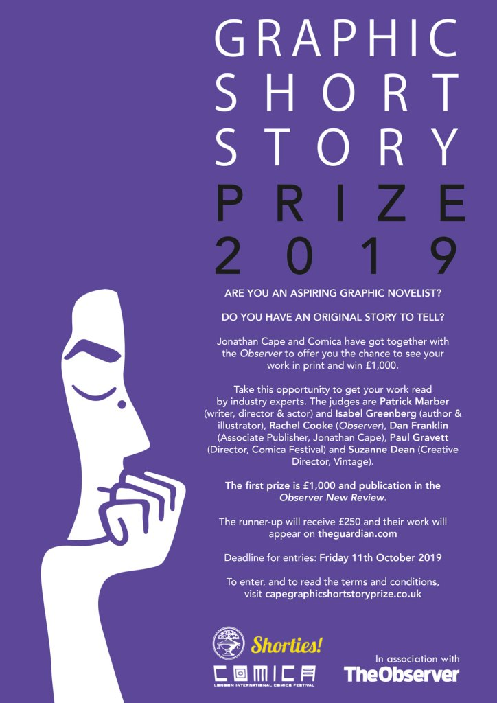 Jonathan Cape/Observer/Comica Graphic short story prize 2019