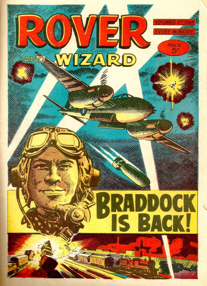 The Rover and the Wizard cover dated 21st November 1964 - Braddock is Back