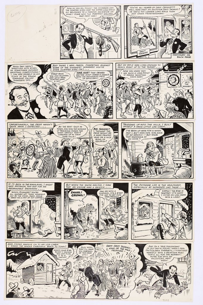 Film Fun/Terry-Thomas 5 original complete story strips for Film Fun, published in the late 1950s, by Terry Wakefield