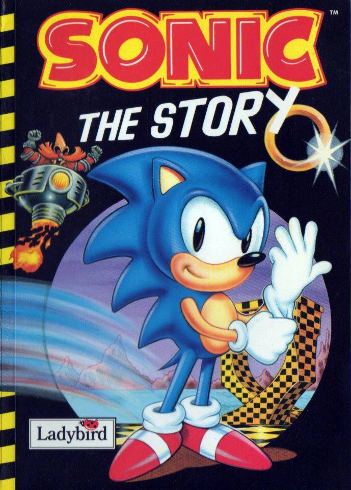 Sonic the Hedgehog book cover, created with the late Bob Wakelin
