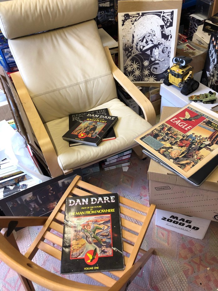 Mega City Book Club guest Simon Belmont did a lot of research before coming on the show to talk about Dan Dare: Man from Nowhere... can you spot all the Easter eggs?