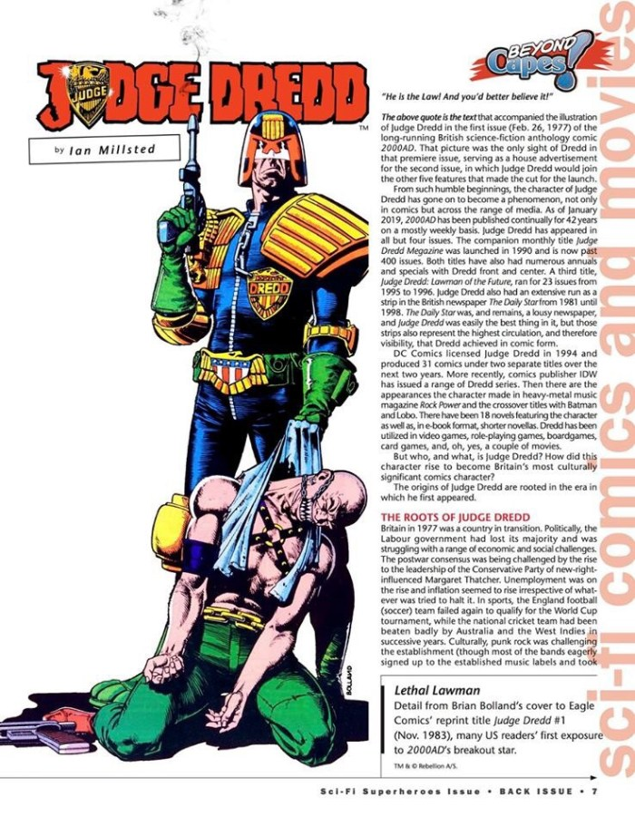 Back Issue #115 _ Dredd