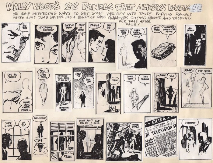 """Wally Wood's """"22 Panels That Always Work"""", compiled by Larry Hama"""