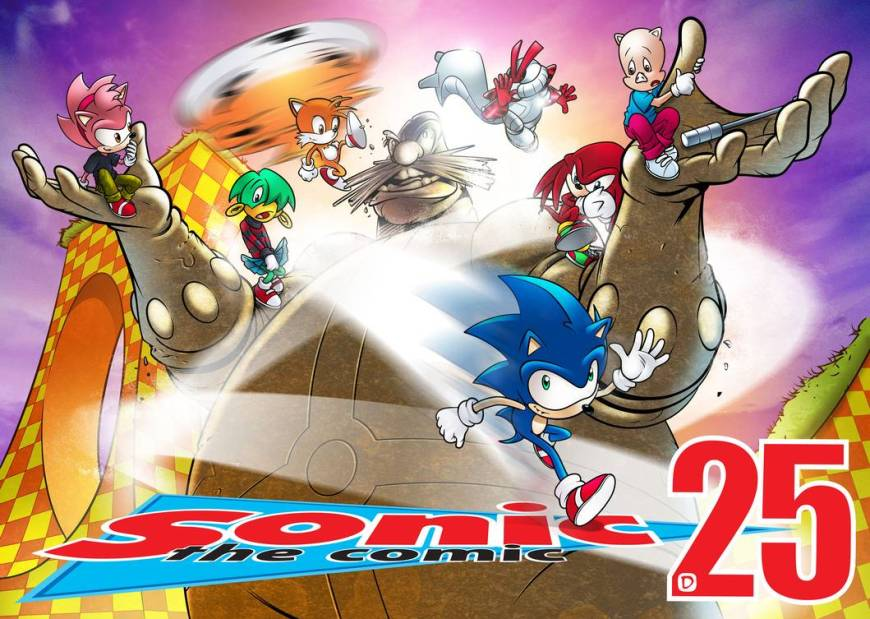 A tribute to Sonic the Comic by Nigel Dobbyn created for a 25th Anniversary event