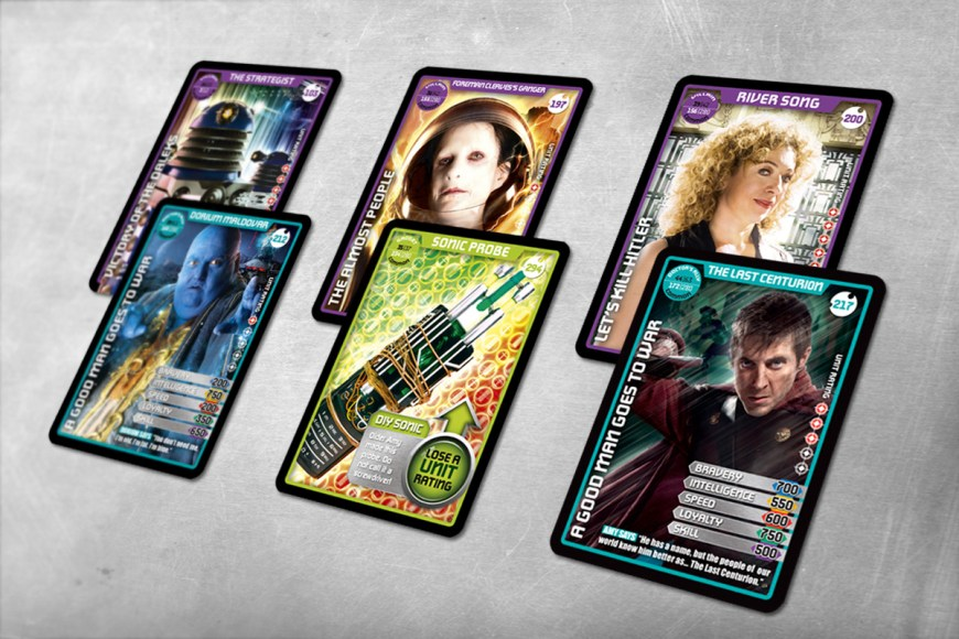 Emma Price designed 52 issues of Doctor Who: Monster Invasion and three sets of trading cards as part of the team at BBC Magazines (now Immediate Media). She also drew over 40 illustrations of monster slamdowns for the magazine, the complete run of which can be seen on her tumblr.