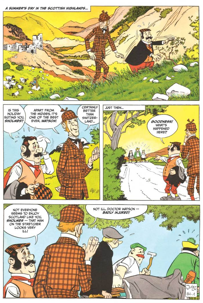 The short-lived STRIP Magazine planned to revisit the road taken by Giggle with its own translation of a Herlock Sholmes adventure by Jules Radilovic back in 2012, but the translated strip never made it to publication