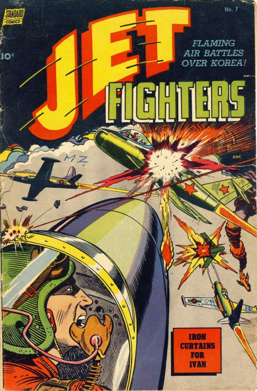 Jet Fighters #7, published in 1953, cover credited to John Celardo