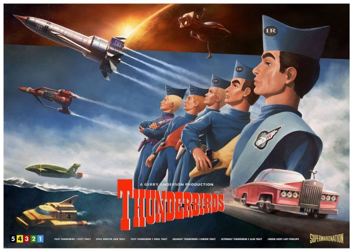 Ice Press limited edition Thunderbirds poster by Henrik Sahlstrom