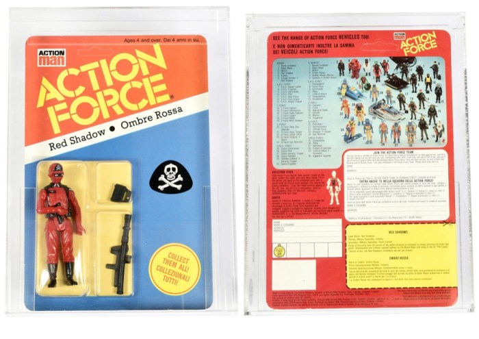 Palitoy Action Force Action Man Red Shadow 3 3/4