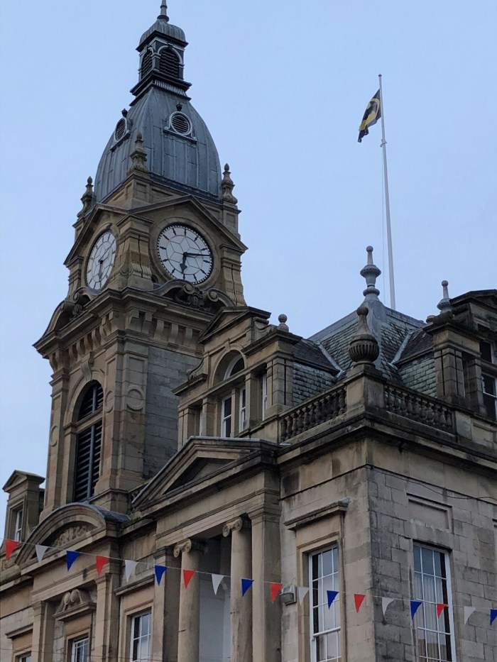 The Batman flag above Kendal Town Hall. Image: John Freeman