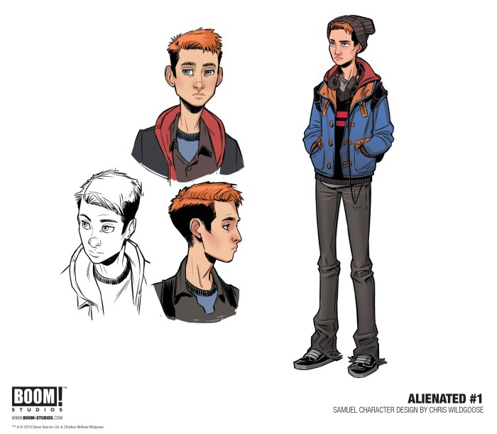 Alienated Character Designs by Chris Wildgoose