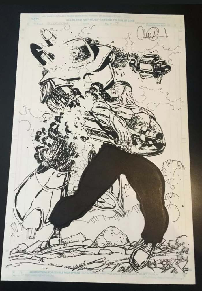 Bloodrush art by Charlie Adlard for a solicited but unpublished Marvel UK series written by Simon Jowett. With thanks to Adrian Clarke