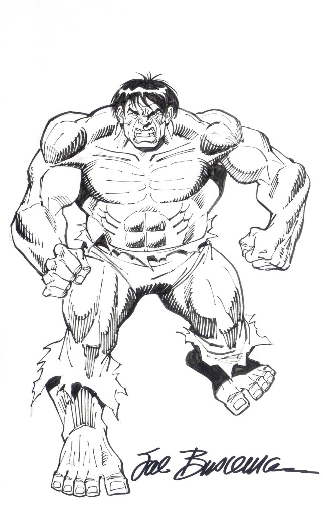 A pin-up of The Hulk by Sal Buscema