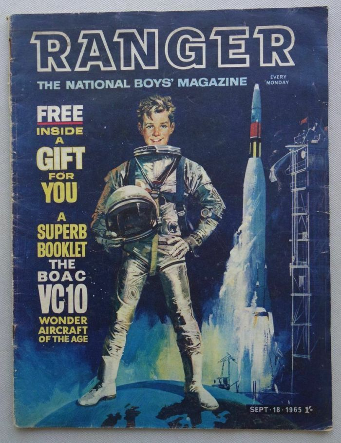 "Ranger Issue One, cover dated 18th September 1965 - which includes the first appearance of ""The Rise and Fall of the Trigan Empire"" by MIke Butterworth and Don Lawrence"