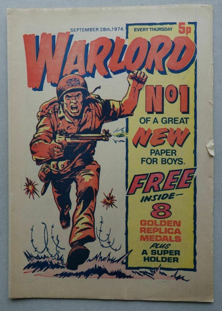 The first issue of Warlord, cover dated 28th September 1974