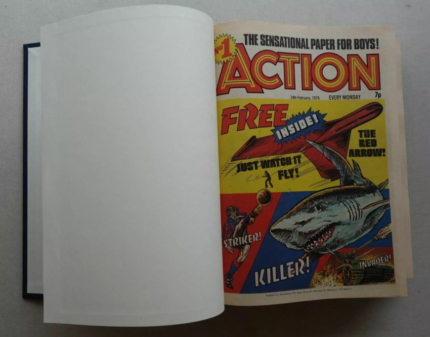 Bound copies of Action