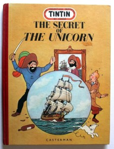 Tintin - The Secret of the Unicorn - 1952 English edition published by Casterman