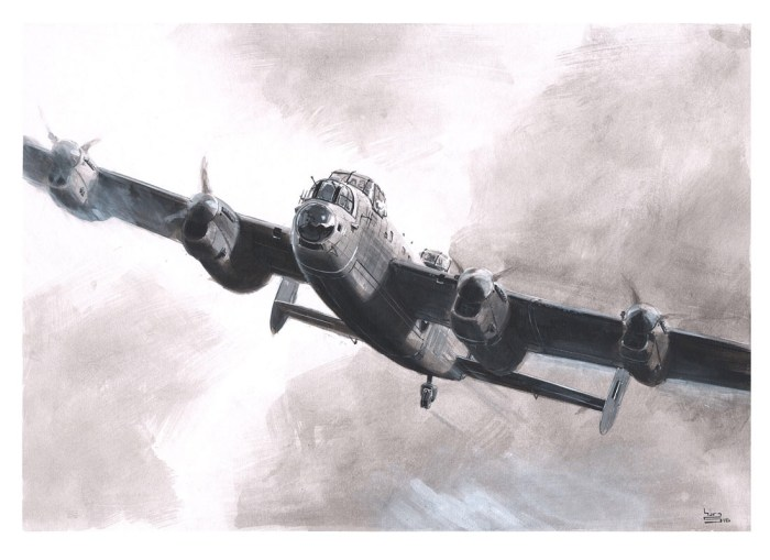 Lancaster B Mark 1 - acrylic art by Keith Burns