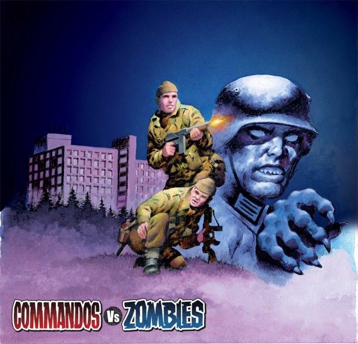 The full cover to the Commando Halloween Special! Issue 5277 Commandos Vs Zombies is out on 31st October