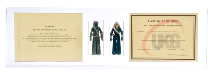 Vectis sold this Kenner Palitoy Star Wars Return of the Jedi Bib Fortuna Prototype sold for £30,000 back in April 2019