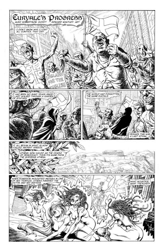 Something Wicked 2019 - Euryale's Progress by writer Alec Robertson, artist and letterer Edward Whatley