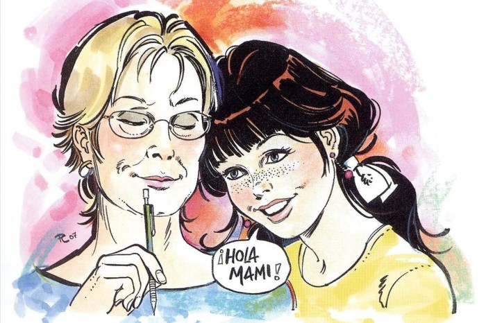 Self-portrait of Purita Campos with Esther (Patty), her best known character