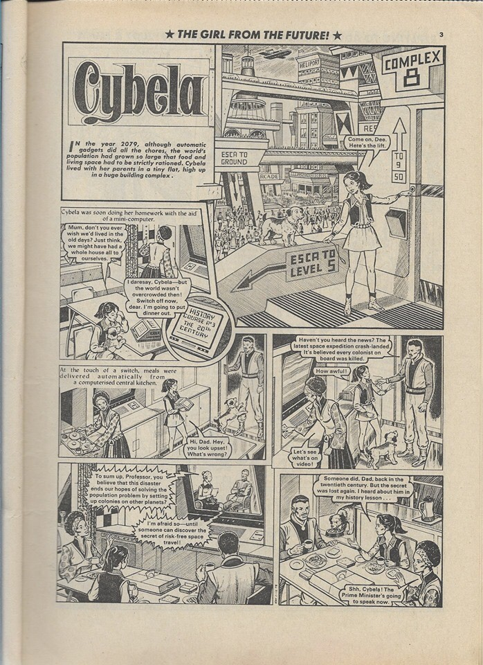 "Girls comic strip ""Cybela – From Century Twenty-One"