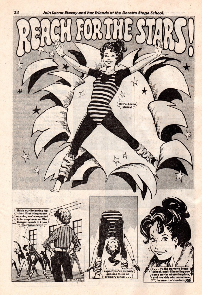 """""""Reach for the Stars"""" from Nikki #1, 1985. Again, who drew it?"""