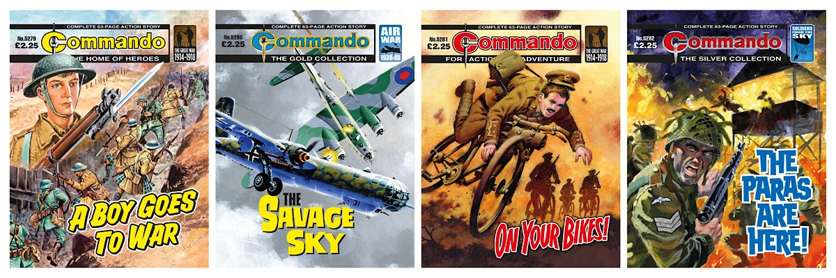 Savage Skies and Cycling Heroes: New Commando comics on sale this week