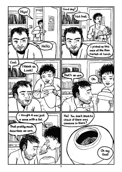 """A page from """"Ashes"""" by Fraser Geesin"""